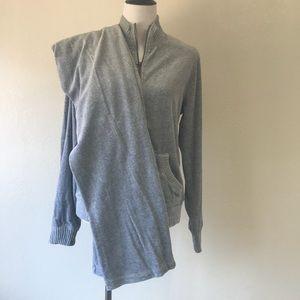 Merona Gray velvet jump suit size M/L